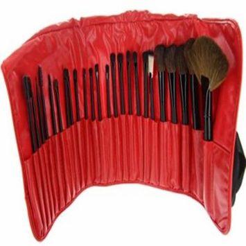 ETA Cosmetics Professional Premium Makeup Brush Set Bundle (24 Piece, RedBlack)