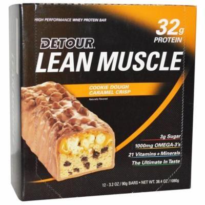 Detour, Lean Muscle Bars, Cookie Dough Caramel Crisp, 12 Bars, 3.2 oz (90 g) Each(pack of 3)