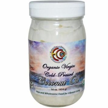 Earth Circle Organics, Coconut Oil, Organic, Virgin, 16 oz(pack of 4)