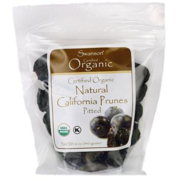 Swanson Certified Organic California Pitted Prunes 12 oz (340 g) Pkg