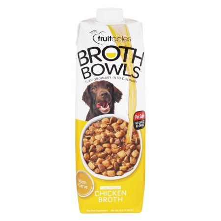 Fruitables Broth Bowls Chicken Broth for Dogs 33.8oz