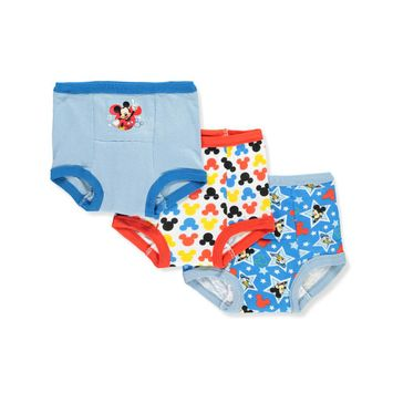 Mickey Mouse Boys' 3-Pack Training Pants & Chart Set