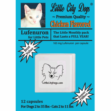Little City Dogs Lufenuron Flea Capsules, 12 capsules for small dogs & cats
