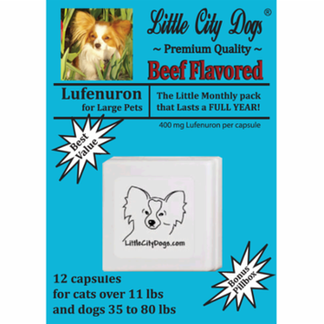 Little City Dogs Lufenuron Flea Capsules, 12 capsules for large dogs & cats