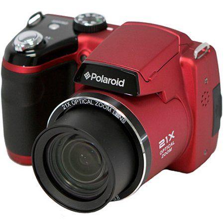 Polaroid IS2132 16MP 21x Zoom Bridge Camera - Red.