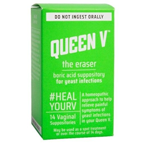 Queen V The Eraser Yeast Infection Treatment | Boric Acid | 14 Vaginal Suppositories