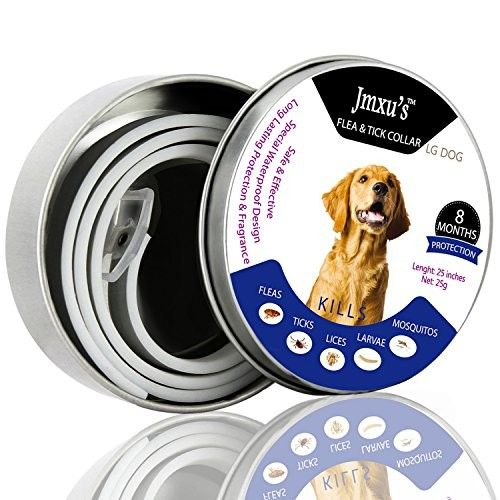 Flea and Tick Prevention Collar for Large Dog - Flea Collar for Dogs & Cat Puppy - Safe Natrual Hypoallergenic - Waterproof Dog Anti Flea Collar