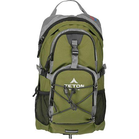 """TETON Sports Oasis1100 Hydration Backpack with Bladder (18.5""""x 10""""x 7"""", Green)"""