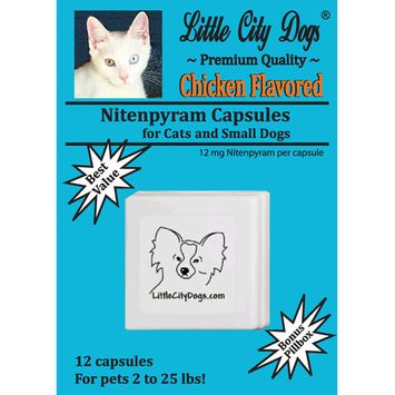 Little City Dogs Nitenpyram Flea Capsules, 12 capsules for dogs & cats 2 - 25 lbs