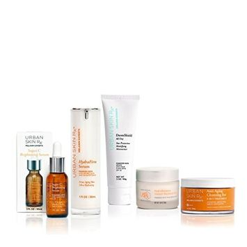 Urban Skin Rx Dry Skin Age Repair Package Hydrating and Brightening Regimen Improving Tone and Skin Texture, Skin Care Set