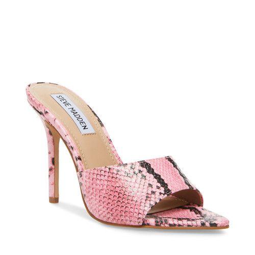 Steve Madden - Steve Madden Feisty Heeled Slide Sandal (Women's) [name: shoe_size value: shoe_size-6]