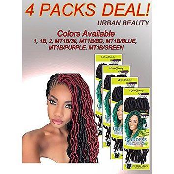 4 Packs of Urban Beauty NaturAll Goddess Faux Locks 12