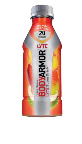 Body Armor Lyte Peach Mango Sports Drink 16 oz Plastic Bottles (Pack of 12)