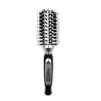 iBeauty 35mm Barrel Porcupine Detangling Styling Round Curling Vent Hair Brush Blow Drying, Straightening Silver ( 2081 Silver)