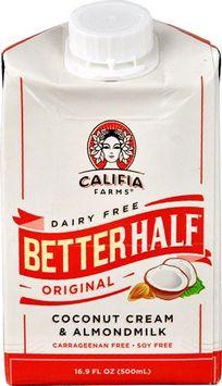 Califia Farms Dairy Free Better Half™ Coconut Cream & Almond Milk Original - 16.9 Floss pack of 6