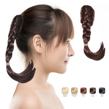 Buy 2 Hollywood Hair French Plat Hair Piece and get 1 Multiple Braids Headband - Dark Brown (Pack of 3)