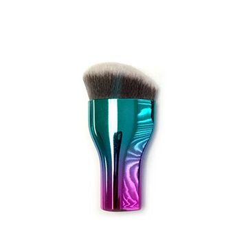 iBeauty Galaxy Ombre Color Mermaid Silky Soft bristle Kabuki Contour Powder Concealer Foundation Makeup Cosmetic Brush Tool (HFBB OMB)