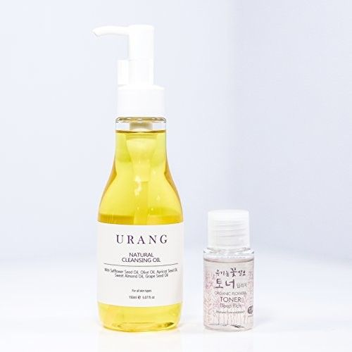 URANG Natural Cleansing Oil 5.07 fl. oz. | 99% Natural & EWG Verifeid | Ideal for sensitive and oily skin | Deep nourishing with Vitamins