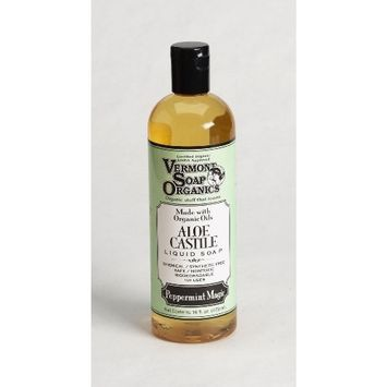 Vermont Soap Organics - Peppermint Magic Liquid Aloe Castile Soap 16oz