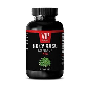 Holy basil supplement - HOLY BASIL EXTRACT 750 - Mental balance - 1 Bottle 60 Veg. Capsules