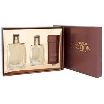 Spark Seduction By Liz Claiborne For Men. Set-cologne Spray 3.4 Ounces & Aftershave 1.7 Ounces & Deodorant Stick 2.6 Ounces