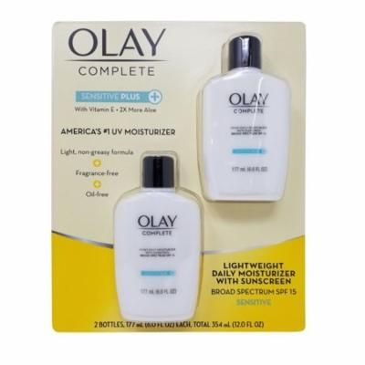 Olay UV Moisturizer SPF 15, Sensitive Plus, Daily with Sunscreen Net 12 FL OZ