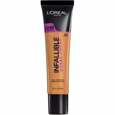 3 Pack - L'Oreal Paris Infallible Total Cover Foundation, Classic Tan 1 oz