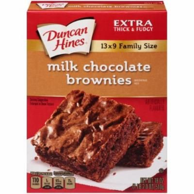 Duncan Hines, Extra Thick & Fudgy Brownie Mix (Pack of 4)