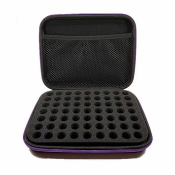 HuntGold Essential Oil Carrying Case, Women 63 Slots Bottle Carry Case Box Storage Aromatherapy Bag Organizer