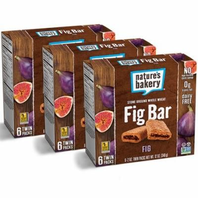 (3 Pack) Nature's Bakery Fig Bar Fig - 6 CT