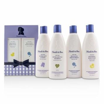 Noodle & Boo Family Fun Pack: Extra Gentle Shampoo + Super Soft Lotion + Smoothing Body Wash + Bouncing Baby Bubbles 4pcs Skincare