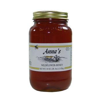 Gourmet Wildflower Honey, 36 oz Pint Jar - Grade A, Natural, Pure - by Anna's Honey