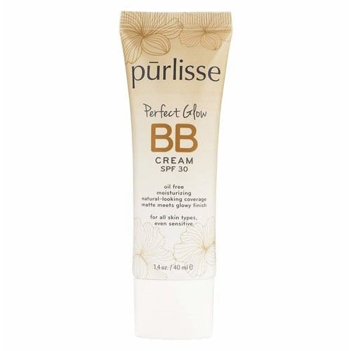 purlisse Perfect Glow BB Cream SPF 30 - BB Cream for All Skin Types - Smooths Skin Texture, Evens Skin Tone - Light Medium, 1.4 Ounce