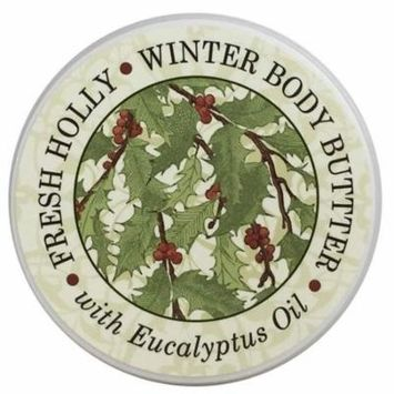Greenwich Bay FRESH HOLLY Body Butter, Christmas and Holiday Season Favorite Scents-Enriched with Shea Butter, Cocoa Butter and NO PARABENS