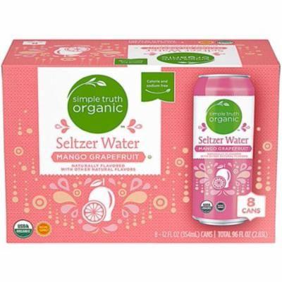 Simple Truth Organic Seltzer Water Mango Grapefruit