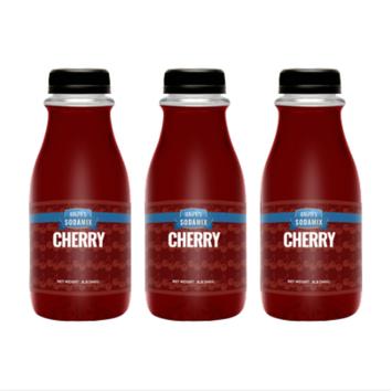 Ralph's Cherry Sparkling Water Sodamix Flavor   Three 12oz Bottles