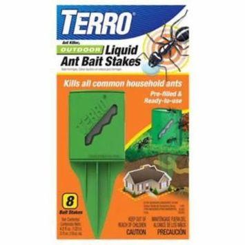 8pc Terro Outdoor Liquid Ant Bait Stakes Kills All Common Household 2PK