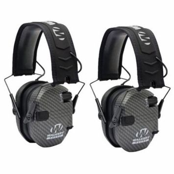 Walkers Razor Series Protection Slim Shooter Folding Earmuff, Carbon (2 Pack)