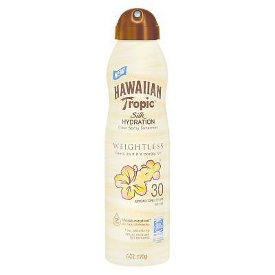 Hawaiian Tropic Silk Hydration Weightless Sunscreen Spray - SPF 30 - 6oz