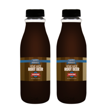 Ralph's SUGAR FREE Root Beer Sparkling Water Sodamix Flavor   Two 16oz Bottles