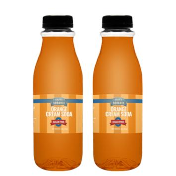 Ralph's SUGAR FREE Orange Cream Soda Sparkling Water Sodamix Flavor   Two 16oz Bottles