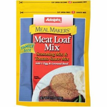 (2 Pack) Adolph's® Meal Makers Family Size Meat Loaf Seasoning Mix, 2.11 oz
