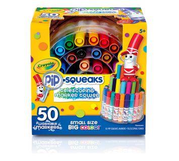 Crayola Pip-Squeaks Telescoping Marker Tower 50ct