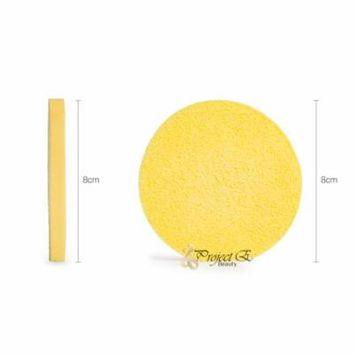 Compressed Face Sponges Cellulose Premium Facial Cleansing Cosmetic Sponge Salon Home Use (12 pc)