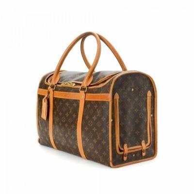 Sac Chien Monogram 50 Dog Carrier 228604 Brown Coated Canvas Weekend/Travel Bag