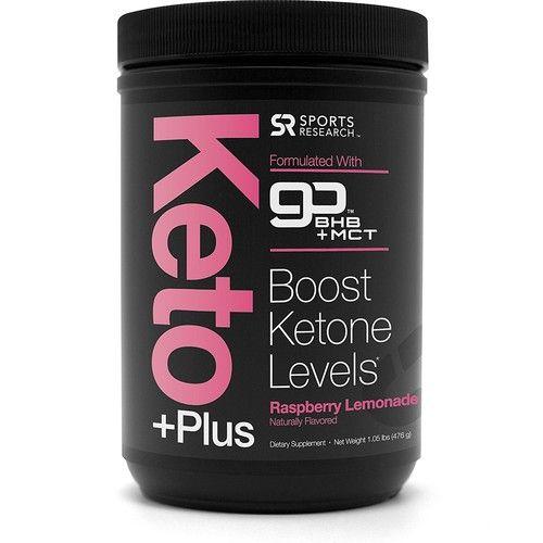 Keto Plus™ with Exogenous Ketones (BHBs) ~ Get into Ketosis, Enhance Performance & Mental Focus ~ Vegan & Keto diet friendly, Non-GMO & Gluten Free (Raspberry Lemonade)