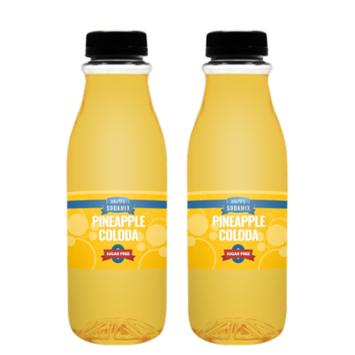 Ralph's SUGAR FREE Pineapple Colada Soda Sparkling Water Sodamix Flavor   Two 16oz Bottles