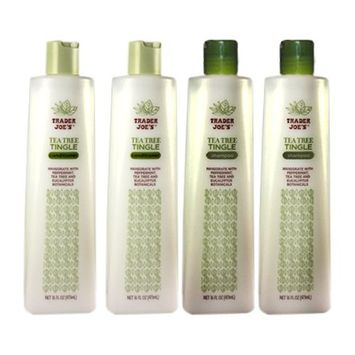 Trader Joe's Tea Tree Tingle Moisturizing Shampoo & Conditioner 4 Pack (2 Each) - CRUELTY FREE