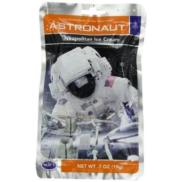 Astronaut Freeze Dried Ice Cream, One Serving Pouch [Neapolitan]