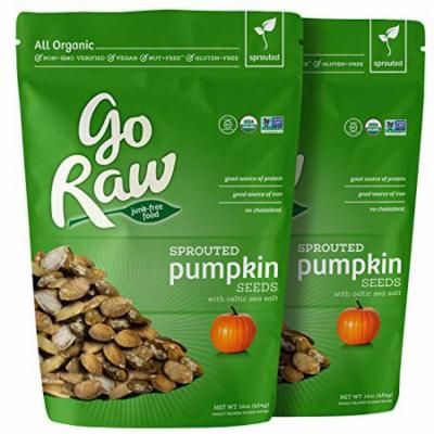 Go Raw Organic Sprouted Superfood Pumpkin Seeds (pack of 2 x 16-ounce bags)
